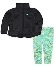 Nike Little Girls 2-Pc. Fluted Track Jacket & Digi-Print Pants Set