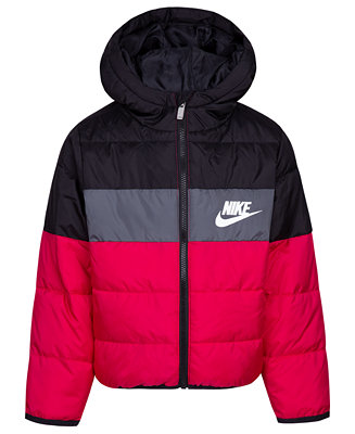 1c2b2f990 Nike Toddler Girls Colorblocked Oversized Quilted Down Puffer Jacket ...