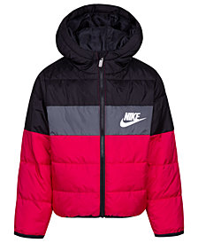 Nike Toddler Girls Colorblocked Oversized Quilted Down Puffer Jacket