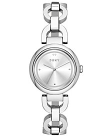 DKNY Women's Eastside Stainless Steel Chain Bracelet Watch 30mm, Created for Macy's