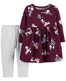 Carter's Baby Girls 2-Pc. Floral-Print Tunic & Leggings Set