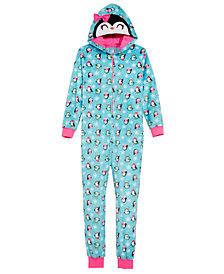 Max & Olivia Big Girls Penguin Hooded Onesie, Created for Macy's