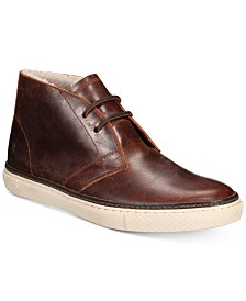 Frye Men's Essex Leather and Sherling Chukka Boots