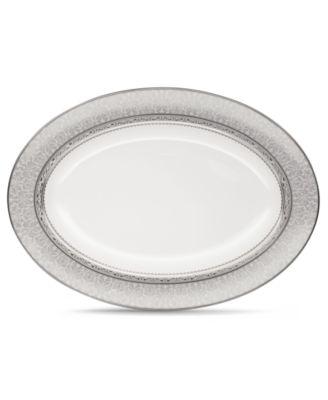 "Dinnerware, Odessa Platinum Oval Platter 14"""