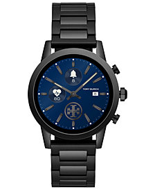 Tory Burch Women's Gigi ToryTrack Black Stainless Steel Bracelet Touchscreen Smart Watch 40mm