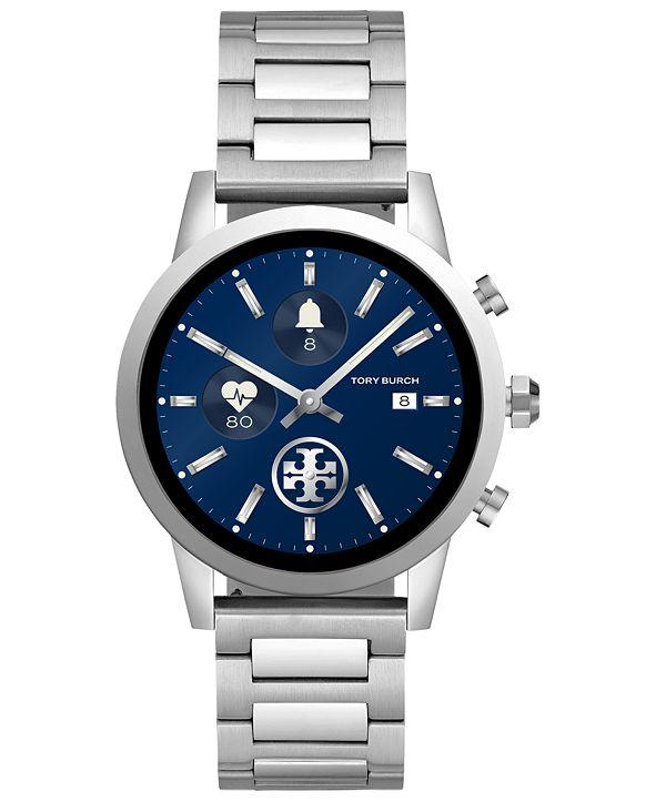 Tory Burch Women's Gigi ToryTrack Stainless Steel Bracelet Touchscreen Smart Watch 40mm