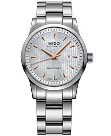 Women's Swiss Automatic Multifort Stainless Steel Bracelet Watch 31mm