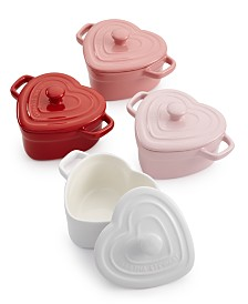 Martha Stewart Collection Set of 4 Heart Cocottes, Created for Macy's