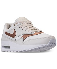 Nike Girls' Air Max 1 Lux Casual Sneakers from Finish Line
