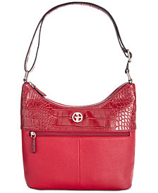 Giani Bernini Pebble Crocodile Hobo, Created for Macy's