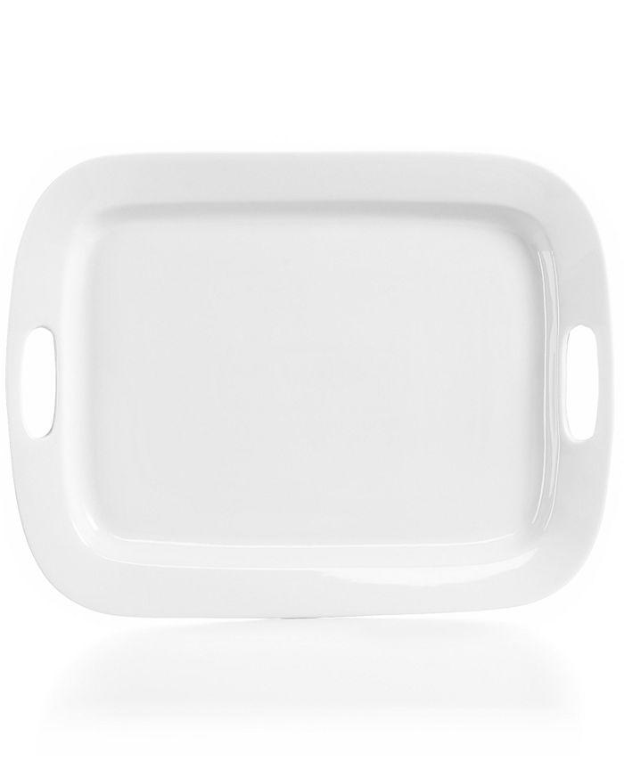 """The Cellar - Whiteware Handled Rectangular Platter, 19"""""""