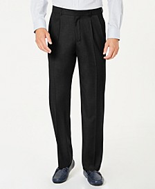 Men's Classic-Fit Performance Stretch Double-Pleated Dress Pants