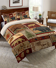 Laural Home Lodge Collage King Comforter