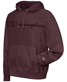Champion Men's Garment-Dyed Logo Hoodie