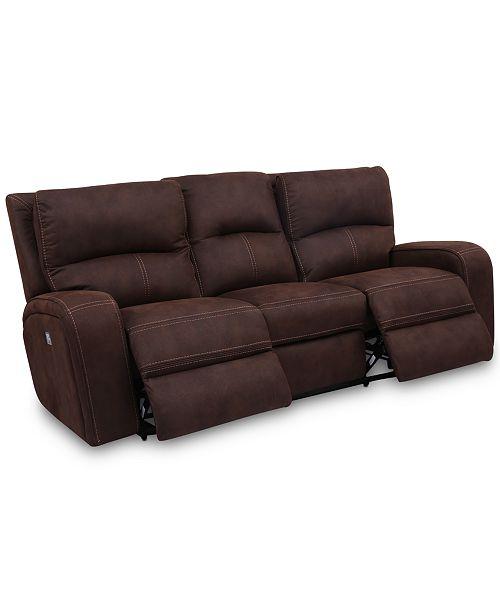 "Furniture CLOSEOUT! Brant 86"" Dual Power Motion Fabric Sofa"