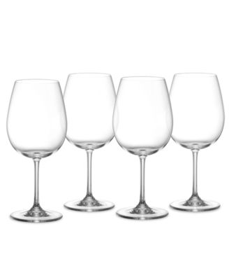 Wine Glasses, Set of 4 Vintage Full Bodied Red Wine