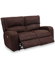 "Brant 64"" Dual Power Motion Fabric Loveseat"