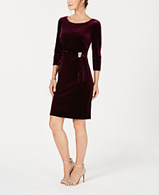 Jessica Howard Petite Rhinestone-Clasp Sheath Dress