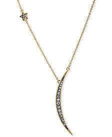 """RACHEL Rachel Roy Gold-Tone Pavé Star & Crescent Pendant Necklace, 18"""" + 2"""" extender"""
