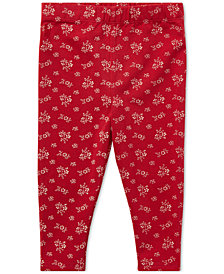 Polo Ralph Lauren Baby Girls Floral-Print Leggings