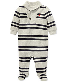 Polo Ralph Lauren Baby Boys Shawl-Collar Coverall