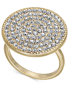 I.N.C. Gold-Tone Crystal Circle Ring, Created for Macy's