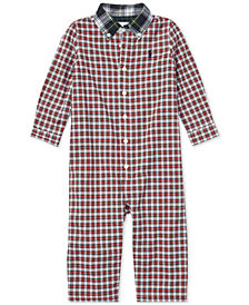 Polo Ralph Lauren Baby Boys Plaid Cotton Poplin Coverall