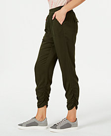 Style & Co Petite Ruched Jogger Pants, Created for Macy's