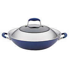 "Anolon Advanced Indigo Hard-Anodized Nonstick 14"" Covered Wok"
