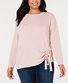 I.N.C. Plus Size Tunnel-Tie Top, Created for Macy's