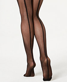 I.N.C. Hearts Back-Seam Tights, Created for Macy's