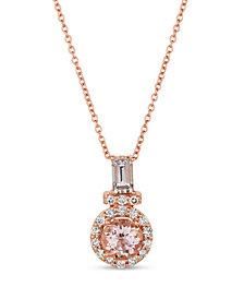 Le Vian® Peach Morganite™ (3/4 ct.t.w.) and Nude Diamonds™ (1/4 ct.t.w.) Pendant set in 14k rose gold