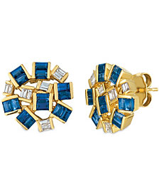 Le Vian® Baguette Frenzy™ Blueberry Sapphires™ (1 5/8 cttw) and Nude Diamonds™ (1/5 cttw) Earrings set in 14k gold