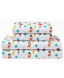 Xmas Wonderland Queen 90 Gsm Sheet Set, Flat Sheet 90X104, Fitted Sheet 60X80X14, 21X31 2 Pc