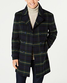 9f1d70d41306 Tommy Hilfiger Men s Nelly Modern-Fit Plaid Double-Breasted Overcoat