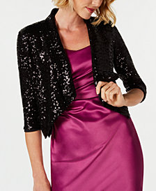 Donna Ricco Sequin Cover-Up Jacket
