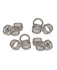 Godinger Round Mesh Napkin Rings, Set of 12