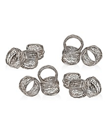 Godinger Round Mesh Napkin Rings, Set of 12