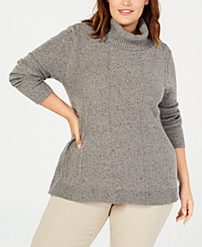 Belle by Belldini Plus Size Turtleneck Tunic Sweater