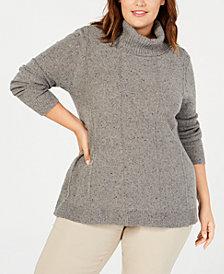 Belldini Plus Size Turtleneck Tunic Sweater