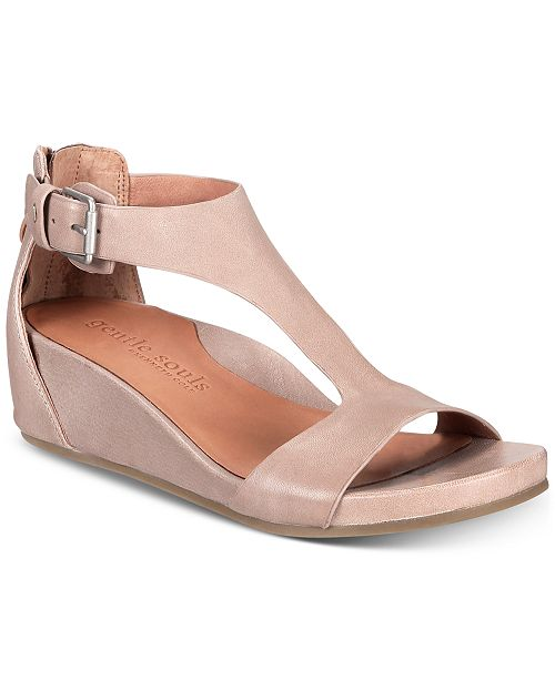 9ec313eaf99 Gentle Souls by Kenneth Cole Women s Gisele Wedge Sandals   Reviews ...