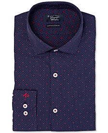 Original Penguin Men's Heritage Slim-Fit Comfort Stretch Textured Dress Shirt