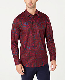 Tasso Elba Men's Textured Paisley Shirt, Created for Macy's