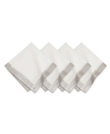 Villeroy & Boch  Metallic Brushstroke Napkin 4 Pc Set