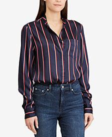 Lauren Ralph Lauren Striped Twill Shirt