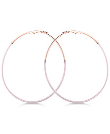 GUESS Thread-Wrapped Hoop Earrings