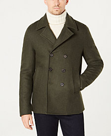 Michael Kors Men's Classic-Fit Double-Breasted Peacoat