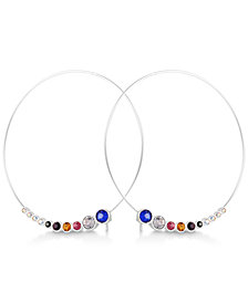 GUESS Multicolor Crystal Hoop Earrings