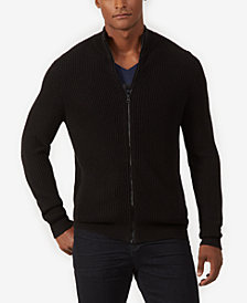 Kenneth Cole Men's Full-Zip Mock-Collar Cardigan
