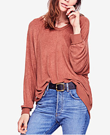 Free People Take It Off Oversized V-Neck Sweatshirt